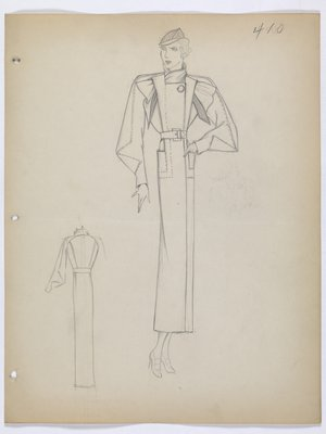 Coat with Faux Overall Front and Buckle Belt