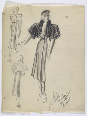 Coat with Large Fur Bolero