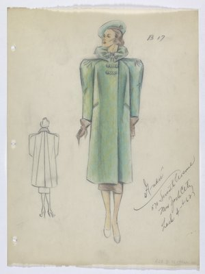 Green Coat with Frog Closures