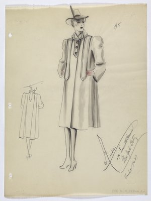 Boxy Coat with Wide Shoulders and Pink Buttons