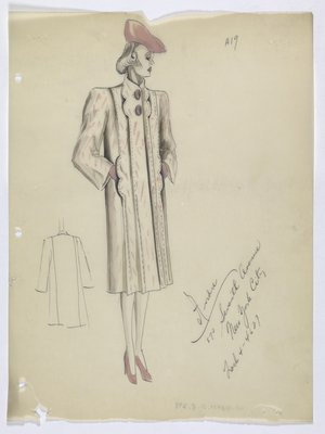 Coat with Pink Pattern and Solid Pink Hat; Shoes and Gloves