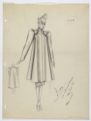 Coat with Tucks at Shoulders