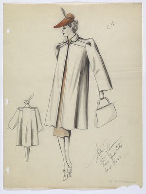 Coat with Brown Dress and Hat