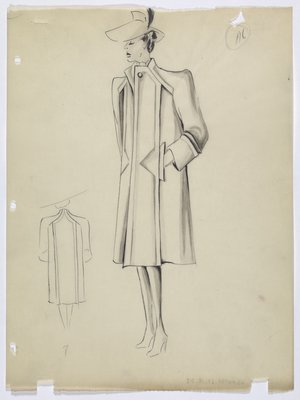 Coat with Triangular Pockets