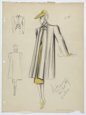 Coat with Yellow Suit; Hat; Gloves; and Shoes
