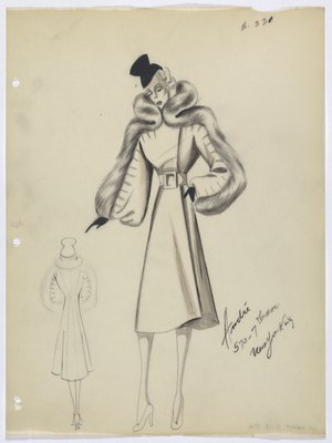 Coat with Fur Around Neck and down Sleeves