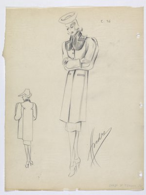 Boxy Coat with Fur Collar and Welt Pockets