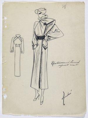 Untrimmed Tweed Sport Coat