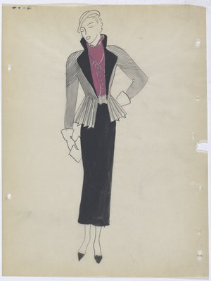 Silver Jacket Worn over Pink Top and Black Skirt