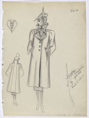 Coat with Highstanding Collar and Welt Pockets