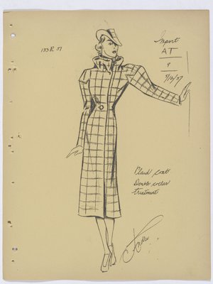 Vionnet Plaid Coat with Double Collar