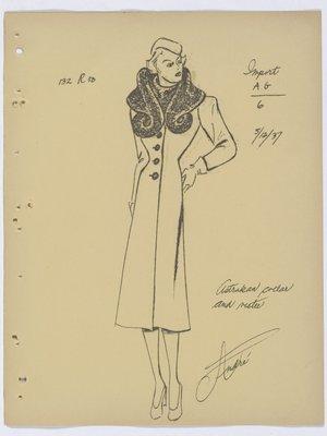 Mainbocher Coat with Fur Collar and Vestee