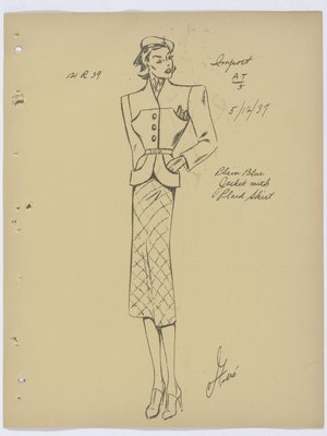 Vionnet Suit with Plaid Skirt