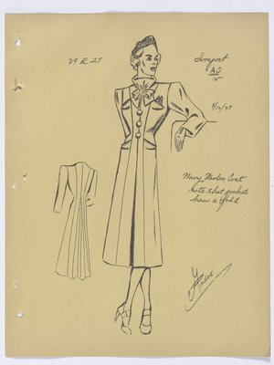 Schiaparelli Coat with Bow at Neck