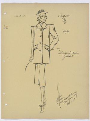 Shocking Woolen Jacket Schiaparelli