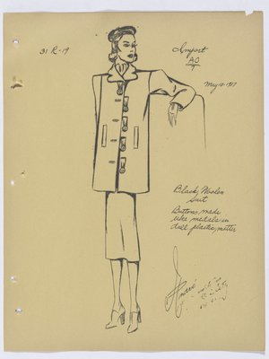 Schiaparelli Suit with Medal-Like Buttons