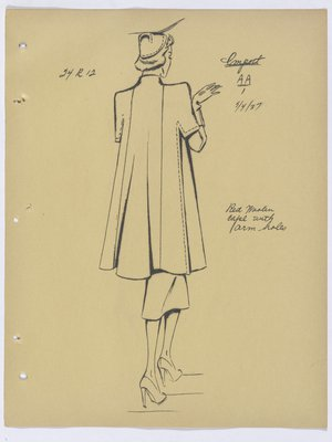 Marcel Rochas Cape with Arm Holes