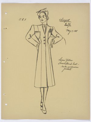Robert Piguet Coat with Underarm Pockets