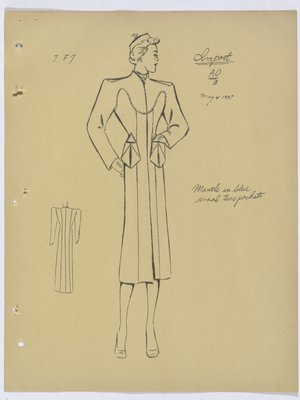 Schiaparelli Coat with Two Patch Pockets