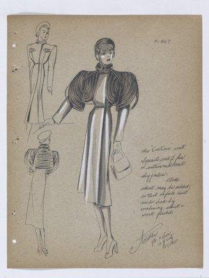 the Costume Coat with Fur Bolero and Chain Closures