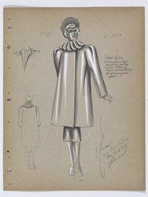 Boxy Coat with Petal Collar