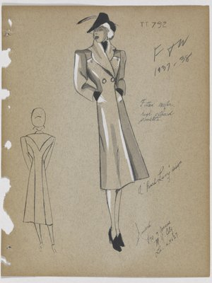 Coat with Two High Placed Pockets