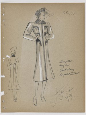 Coat with Zipper Closing and Six Pockets