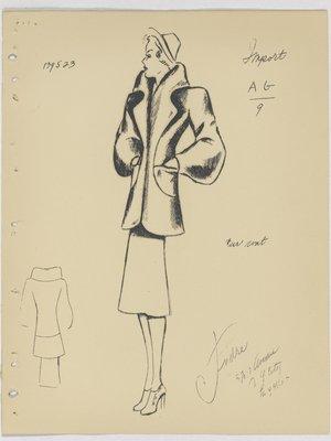 Mainbocher Short Fur Coat