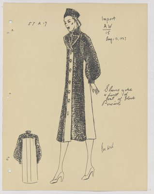 Heim Coat with Fur Collar, Yoke, Sleeves and Front