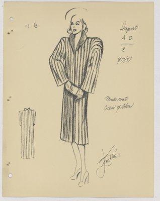 Schiaparelli Fur Coat with Small Collar