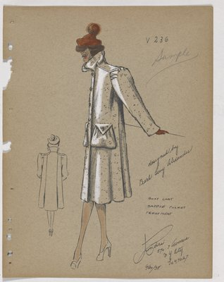 Boxy Coat with Saddle Pouch Pockets and Orange Hat