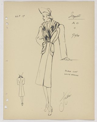 Schiaparelli Coat with Double Patch Pockets