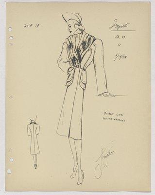 Schiaparelli Coat with Double Patch Pockets