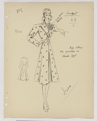 Marcel Rochas Star Print Coat