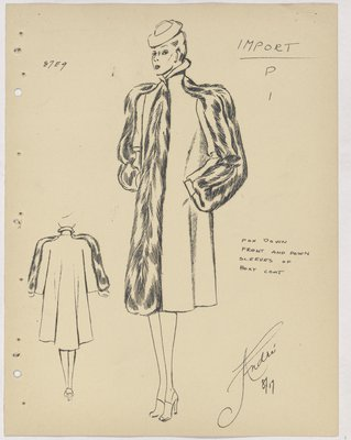 Francevrainmant Coat with Fur down Front and Sleeves