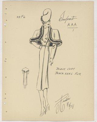 Balenciaga Coat with Fur-Trimmed Capelet