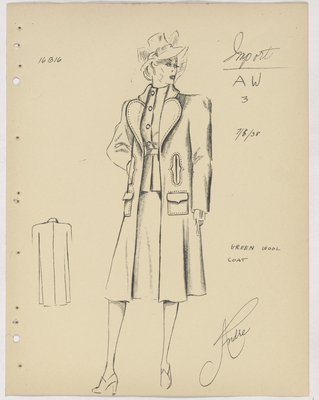 Heim Three-Piece Suit with Welt and Flap Pockets on Topcoat