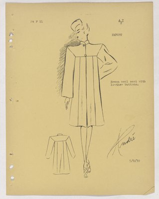 Vionnet Boxy Coat with Two Buttons