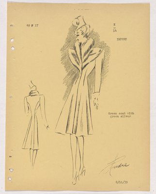 Creed Coat with Layered Fur Collar
