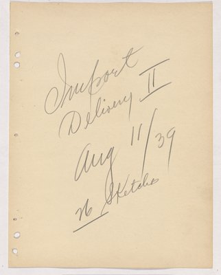 Import Delivery Ii August 11/39 - 26 Sketches