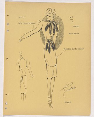 Schiaparelli Suit with Mink Tails at Neck and Waist