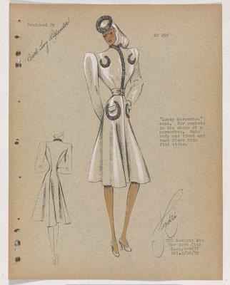 Lucky Horseshoe Coat with Fur on Pockets in Horseshoe Shape