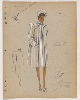Loose Coat with Points at Neckline