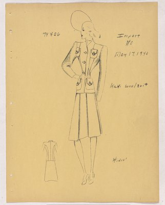 Schiaparelli Suit with Four Patch Pockets