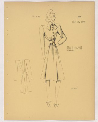 Balenciaga Coat with Bow at Neck and Buttons down Front