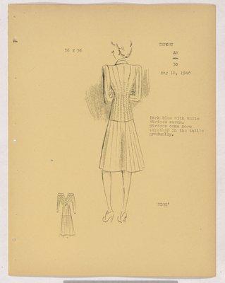 Robert Piquet Suit with Vertical Stripes