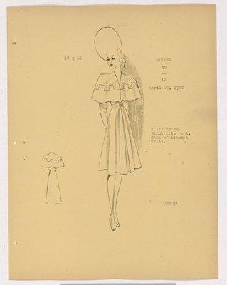 Robert Piquet Dress with Capelet