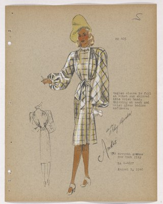 Yellow Plaid Coat with Raglan Sleeve, with Yellow Hat