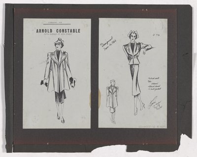 Copies of Arnold Constable's Ad and Sketch for Tailored Suit