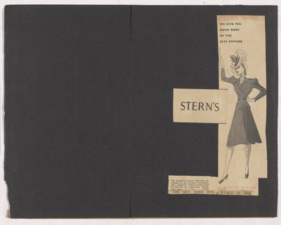 Newspaper Clipping of Stern's Ad for Dressmaker Suit